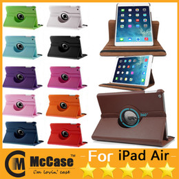 Wholesale Smart Rotating Case For iPad Air Degree Rotary Stand PU Leather Cover Cases For iPad Air iPad Mini Retina Colors
