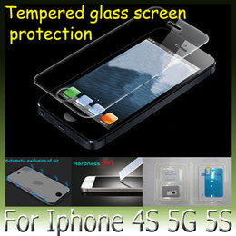 New Glass Premium Tempered Glass Screen Protector Glass Film for iPhone4 4S iPhone 5 5G iPhone6 with high quality free shipping