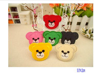 Wholesale Cartoon Bear Head Fabric Embroidered Motif Applique Patch Iron on DIY Sewing Craft cm