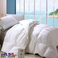 Wholesale Bedding series cotton satin white duck down by winter is self shade overlock needle