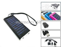 Wholesale 100PCS USB Solar Battery Panel Charger for Cell Phone MP3 MP4 A13 TYN