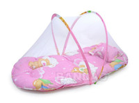 Wholesale Big folding Baby Mosquito net Insect multi function Cradle Bed Netting Infant foldable Canopy Cushion Mattress pillow and pad
