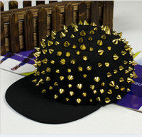 Ball Cap baseball studs - New Silver Spike Rivet Snapback Stud Hedgehog Punk Rock Studded Baseball Hip hop Hat Cap Christmas Gift L395