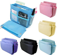 Wholesale Cosmetic Bag Lady Handbag jewelry Organiser Large Insert Storage Make Up Organizer Hot sale Superdeal High Quality Multifunction