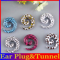 Wholesale Mix Color UV Acrylic Spiral Taper Ear Expander Stretcher Plugs Flesh Tunnel Ear Plugs Body Piercing Jewelry BJ194