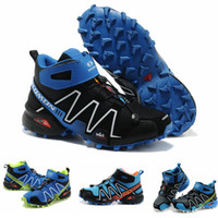 Climbing Flat Men Newest Salomon Hiking Shoes Series SPEEDCROSS 3 High-top Mountainering Shoes Mens Ankle Protect Outdoor Shoes Winter Snow Boots