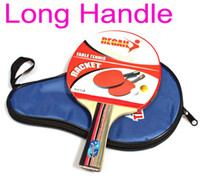 Wholesale Dropshipping Long Handle Shake hand Table Tennis Racket Ping Pong Paddle Waterproof Bag Pouch