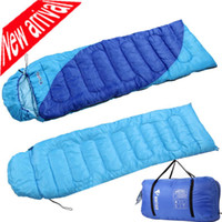 Wholesale Winter Warm Hooded Sleeping Bag Rectangular Outdoor sports Camping Hiking