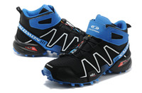 Cheap 2014 Latest Outdoor Climbing Shoes Salomon SPEEDCROSS 3 High-top Hiking Boots Wear Non-slip Trail Running Shoes Size 40-45 Black