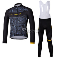 Breathable livestrong - Long Sleeve Fleece Livestrong Cycling Jersey Brand Jersey Bike Jersey Design Your Own Jerseys Annual Outdoor Bicycle Sportwear C00L3