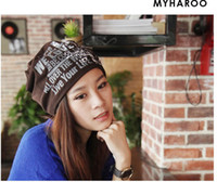 Wholesale Skull Caps Online - (10pcs lot) New Style Beanie Hat Cotton Winter Caps And Crochet Hats For Man And Women Hip Hop Skullies Warm Online Beanies L397