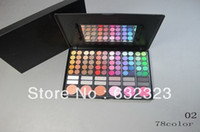 Wholesale EMS Shipping New makeup color set color eye shadow lip gloss blusher Powder