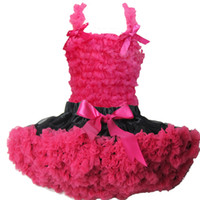 Wholesale Girls Pettiskirt Tutu Set Girls Chiffon Skirt party dress Pettitop Tutu Skirt a Set Lace Top Pettiskirt