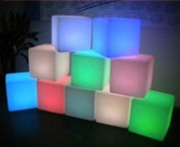 Wholesale Led fashionable luminous cm Bar stool cube chair for bar furnitre party furniture decoration rechargeable furniture
