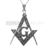 Livraison gratuite! 3pcs / LOT maçonnique G Square et boussole Amulette pendentif MEP650