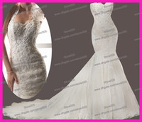Real Photos best bridal corset - Best Sell Halter Beaded Lace Mermaid Couture Bridal Dresses Wedding Gowns Corset Back W2577