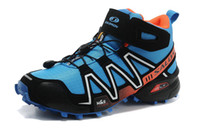 Climbing Soft Spike Men New Arrival Climbing Shoes Salomon Speedcross 3 High-top Dirt Road Hiking Boots Mens Well-cushioned Outdoor Shoes Factory Price Sale