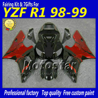 Wholesale High quality red black fairings body kit for YAMAHA YZF R1 YZFR1 YZF R1 YZFR1000 fairing aftermarket parts gifts fb12