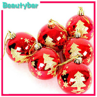 Wholesale high quality cm painting christmas tree balls ornament pendant accessories Christmas decoration difference designs can choose
