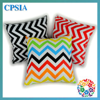 Wholesale 17 quot quot canvas pillow cushion cover case Square chevron pillow for car decorative throw pillow covers48pcs