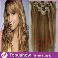 Wholesale Fashion Anime Clip In Hair Extension Light Blonde g quot set Juliet Virgin Hair HE