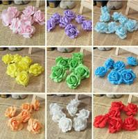 Wholesale 200PCS C available DIA CM PE real touch Artificial rose flowers diy wedding bouquet arch flowers accessoires