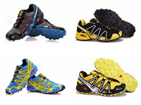 Wholesale Outdoor shoes New arrival climbing shoes Salomon Speedcross CS added cushion Hiking Sneakers many color can chooes