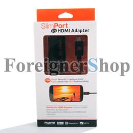 Wholesale 350 SlimPort Adapter cable to HDMI MyDP for Google Nexus Fujitsu Arrows Tab LG optimus G pro ASUS Padfone infinity AP6