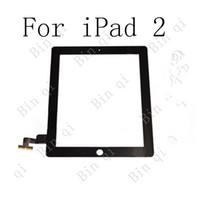 Wholesale OEM Touch Screen Glass Panel With Digitizer Replacement Black And White For iPad Free DHL EMS