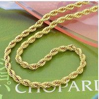 Celtic 14k gold rope chain - Low Price K Yellow Gold Filled quot Knot Mens Rope Necklace Chain GF Jewelry Twist link Chain mm wide Christmasgift