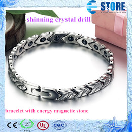 Wholesale Magnetic Bio Energy Bracelets with Shining Crystal Drill wu