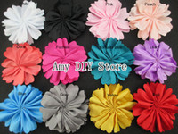 ballerina for sale - 120pcs Hot Sale mini Ballerina satin Flower Unfinished Fabric Flower for Hair clips Headband baby girls Hair accessories HH040