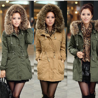 Wholesale New Womens Thicken Fleece Warm Faux Fur Winter Coat Zip Hood Parka Overcoat Jackets