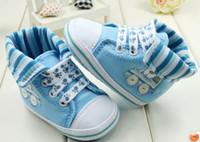 10% de descuento!Solapas altas bebé zapatos azul cielo del niño zapatos celeste cartoon coche bebé onda 0-1 años interior casual zapatos! 6pairs/12pcs.C