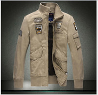 Wholesale America Air Force One military style jackets for men clothes fashion bomber slim fit motorcycle jacket M XL
