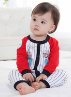 Boy Summer 100% Cotton Baseball Baby Rompers All star babywear Baby Sleepwear Baby Clothes W154