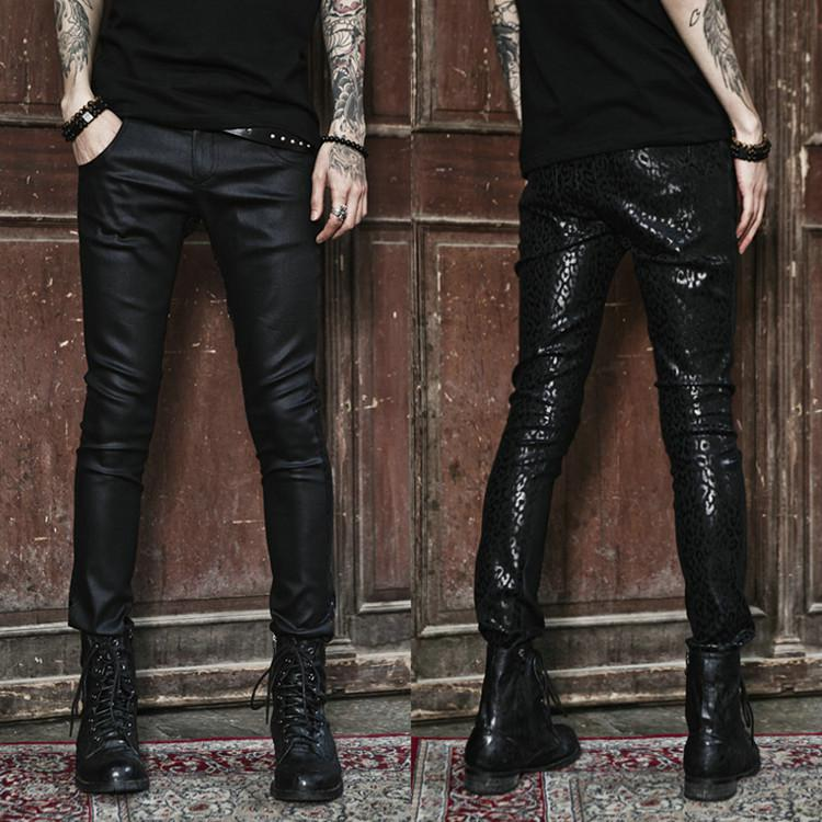 Astounding Nwt New Mens Punk Motorcycle Biker Gothic Pu Faux Leather Pants Hairstyles For Men Maxibearus