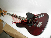 Wholesale Custom strings Jazz Bass brown electric bass guitar rosewood fingerboard