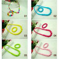 Wholesale Baby Accessories baby Pearl Bracelet Necklace baby accessories kid bracelet necklace children