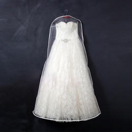 Wholesale 175cm Long High Quality Long TRAIN Wedding Dess Dust Bag Evening Dress Dust Cover Bridal Garment Storage Bag ACE