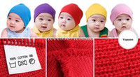 Boy Summer Crochet Hats christmas RThe Warm Baby Hats Crochet Costume Baby Red Caps Children's Knitted Winter Autumn Cap For Girl Boys Wholesale Drop Shipping