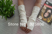 Wholesale christmas R Fashion New Arrival Korean Design Knitted Women Gilrs s Long Design Autumn Winter Warm Fingerless Gloves G