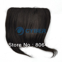 Wholesale NEW Dark Brown Lady s Fashion Clip in on Bang Fringe Human Hair Extensions Carnival