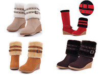 Wholesale Fashion Women Dual purpose boots Winter Warm Snow Boots Shoe full size