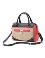 Wholesale Sweet Split Color PU Leather Women s Tote Bag u10 ry
