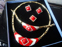 K3008 New Design Fashion Jewelry Sets Inlaid Zircon Luxury A...