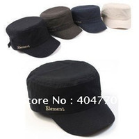 Wholesale Prison Break European style Element Letter Flat Military Hat Leisure Baseball Cap Adjustable Flat top Army Caps