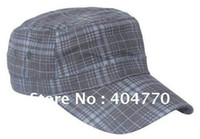 Wholesale Fashion Color Matching Plaid Men s Women s Adjustable Casual Hiphop Military Hat Cap Flat Top Army Caps Colors