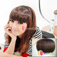 Wholesale Fashion Sexy Girl s Hairpiece Head Forehead Neat Bang Fringe Wig Hair