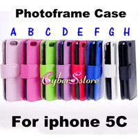 iphone 5c case - For iphone C Case Photo Frame Wallet Flip PU leather Cover With Credit Card Slots Slot Pouch Pocket For iphone C